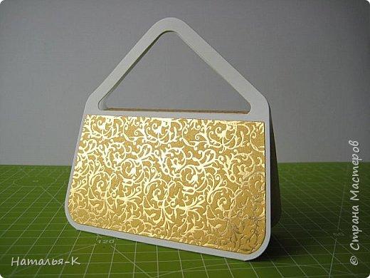 Здравствуйте всем, всем!  Предлагаю МК  сумочки - упаковки. В такой сумочке можно подарить небольшой подарок, можно деньги подарить скрутив в трубочку... и т. д. фото 2