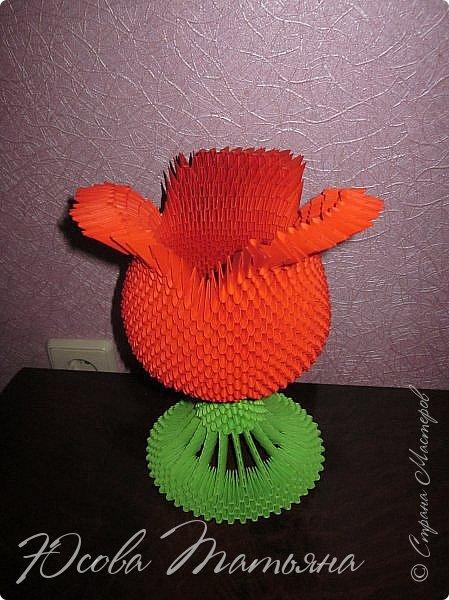 Попыталась сделать вазу в форме цветка. фото 3
