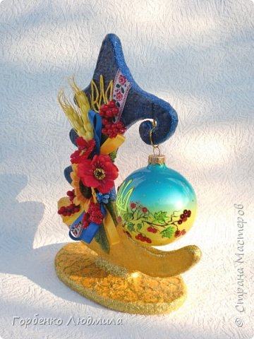 Доброе утро,Страна!Новогодний марафон продолжается и у меня!))) Тема Нового года для меня очень близка,поскольку работаю я на фабрике ёлочных игрушек разрисовщиком этих самых игрушек!)))Именно опыт работы в данной сфере позволил мне сотворить вот такие ёлки-подвески для шаров! Мой мастер-класс здесь https://stranamasterov.ru/node/985879 фото 19