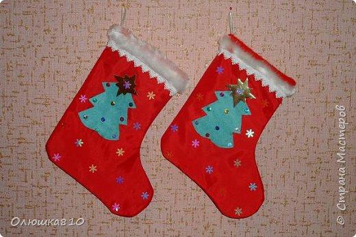 Интерьер Новый год Рождество Шитьё Рождественские носочки фото 1