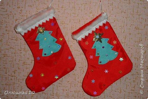 Интерьер Новый год Рождество Шитьё Рождественские носочки фото 2