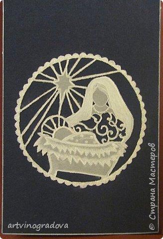 Сочетание пергамано и работы дыроколами и фигурными ножницами. фото 3