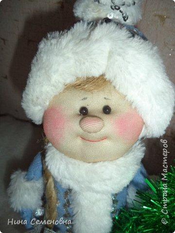 Игрушка Новый год Шитьё МК  Дед Мороз и Снегурочка Бутылки пластиковые Мех Ткань фото 13