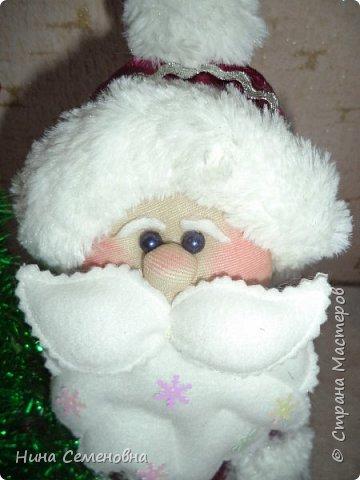 Игрушка Новый год Шитьё МК  Дед Мороз и Снегурочка Бутылки пластиковые Мех Ткань фото 14