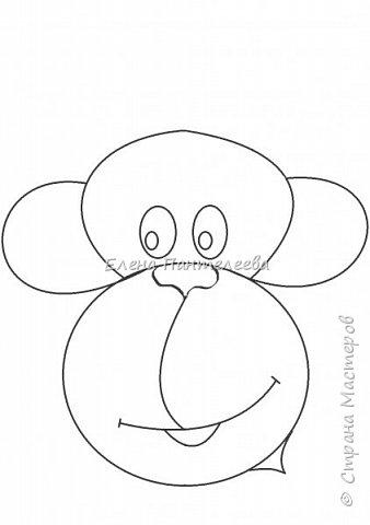 Рисуем символ года- обезьянку. фото 11