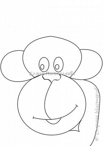 Рисуем символ года- обезьянку. фото 12