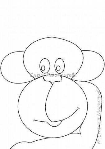 Рисуем символ года- обезьянку. фото 13