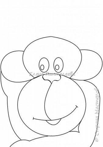 Рисуем символ года- обезьянку. фото 14