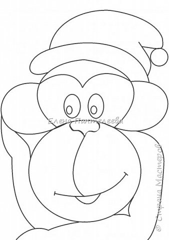 Рисуем символ года- обезьянку. фото 16