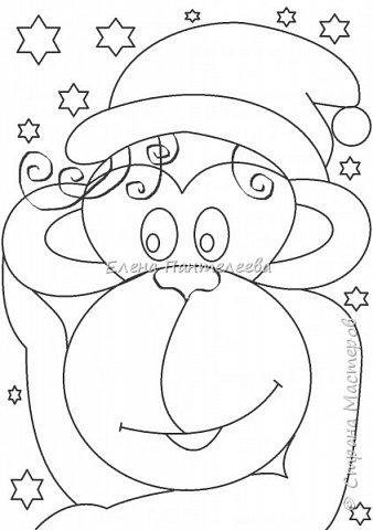Рисуем символ года- обезьянку. фото 17