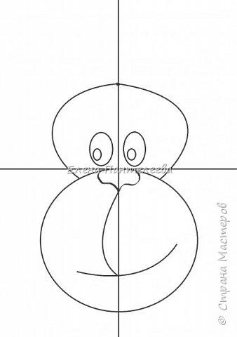 Рисуем символ года- обезьянку. фото 9