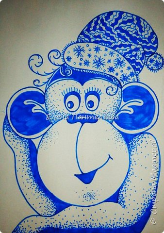 Рисуем символ года- обезьянку. фото 18