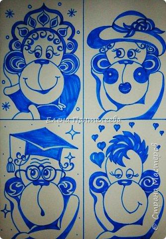 Рисуем символ года- обезьянку. фото 21