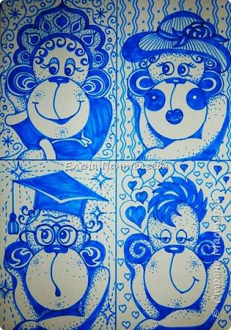 Рисуем символ года- обезьянку. фото 22