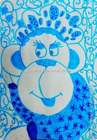 Рисуем символ года- обезьянку. фото 23