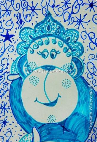 Рисуем символ года- обезьянку. фото 25