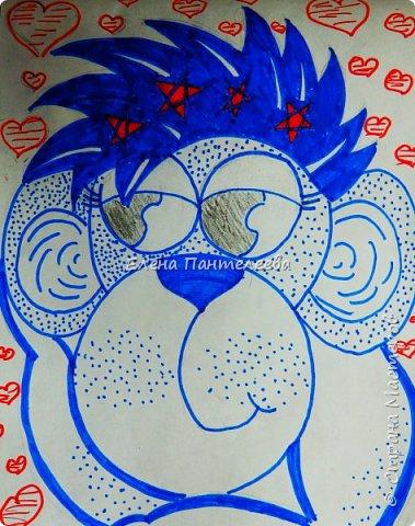 Рисуем символ года- обезьянку. фото 26
