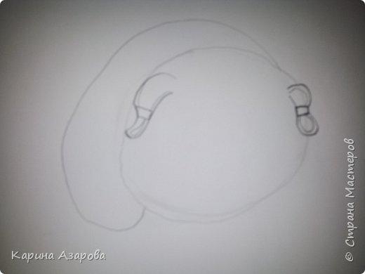 Здравствуйте! Сегодня я Вам покажу как нарисовать мопса. Начнем! фото 3