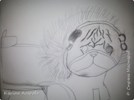 Здравствуйте! Сегодня я Вам покажу как нарисовать мопса. Начнем! фото 7