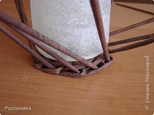 Мастер-класс Поделка изделие Плетение Фонарик из ничего Бумага газетная Проволока Трубочки бумажные фото 11