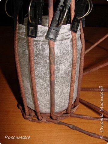 Мастер-класс Поделка изделие Плетение Фонарик из ничего Бумага газетная Проволока Трубочки бумажные фото 12
