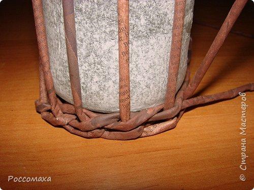 Мастер-класс Поделка изделие Плетение Фонарик из ничего Бумага газетная Проволока Трубочки бумажные фото 13