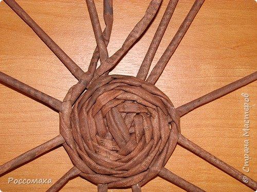 Мастер-класс Поделка изделие Плетение Фонарик из ничего Бумага газетная Проволока Трубочки бумажные фото 8