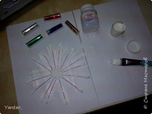 Очень простой вариант изготовления снежинок для декора интерьера. фото 3