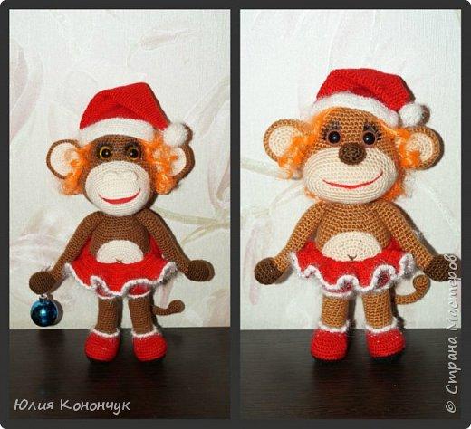 Мастер-класс Поделка изделие Новый год Вязание крючком Новогодняя обезьянка Пряжа фото 1