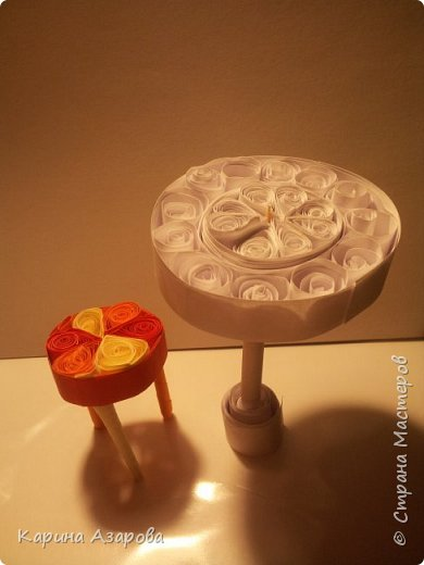 Здравствуйте! Сегодня у меня появилась идея кукольной мебели в технике КВИЛЛИНГ. Начнем! фото 9