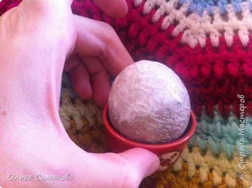 Мастер-класс Материалы и инструменты Пасха Папье-маше Заготовка для Пасхального яйца Бумага Клей фото 11