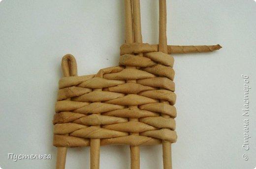 Олени для детских МК (всего 12 трубочек). Идея взята у мастеров плетения из лозы. фото 8