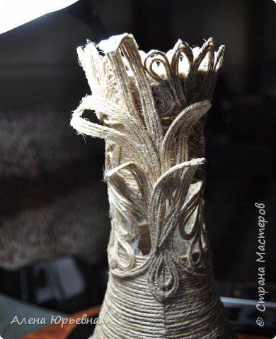 Мастер-класс Поделка изделие Моделирование конструирование Филигранная ваза МК Клей Шпагат фото 10