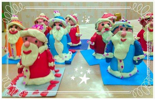 Вот таких забавных  Дедушек Морозов сделали мы с ребятами сегодня на занятии... фото 5