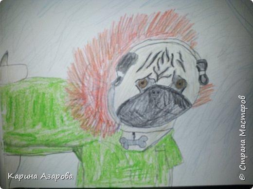 Здравствуйте! Сегодня я Вам покажу как нарисовать мопса. Начнем! фото 1