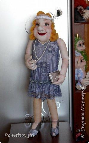 Портретная кукла в стиле гэтсби. фото 3