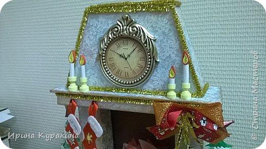 Камин на конкурс в дом культуры. 30 см высота фото 4