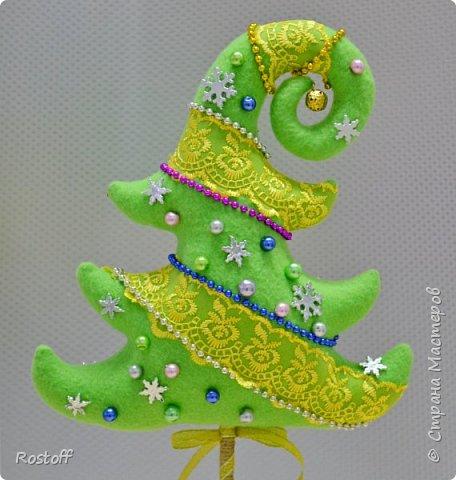 Бонсай топиарий ёлка Мастер-класс Новый год Шитьё Ёлочка-топиарий МК Ткань фото 1