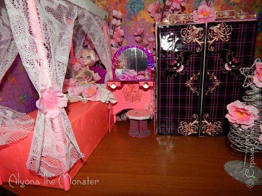 Приветствую всех, кто зашел в гости!  Недавно у Повелительницы Драконов появилась комната. Ну не может же столь важная персона быть бездомной)) Я решила сделать спальню для Вирджин розового цвета, в тон цветам на платье. Давайте рассмотрим ее поподробнее. фото 2