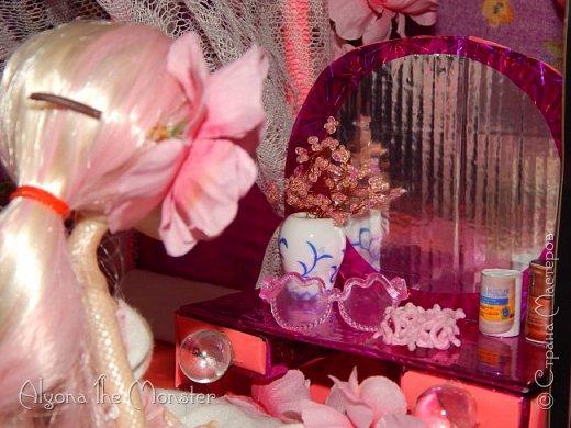Приветствую всех, кто зашел в гости!  Недавно у Повелительницы Драконов появилась комната. Ну не может же столь важная персона быть бездомной)) Я решила сделать спальню для Вирджин розового цвета, в тон цветам на платье. Давайте рассмотрим ее поподробнее. фото 12
