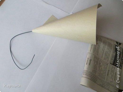 Бонсай топиарий ёлка Мастер-класс Новый год Моделирование конструирование МК елочки из ниток Нитки фото 5