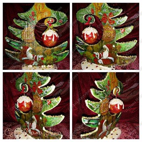 Мастер-класс Поделка изделие Новый год Декупаж Моделирование конструирование Как я делала елки  Бумага Бумага гофрированная Картон Клей Краска Ленты Материал природный Салфетки фото 11