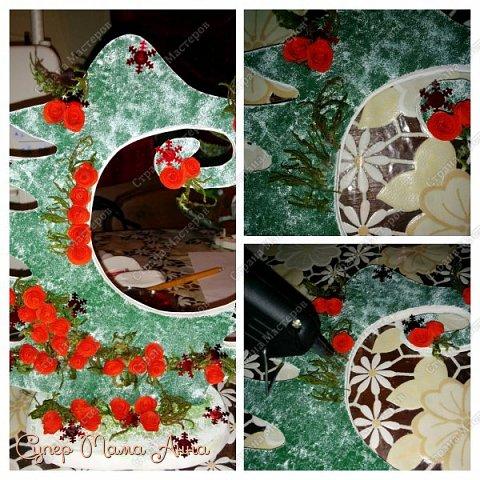 Мастер-класс Поделка изделие Новый год Декупаж Моделирование конструирование Как я делала елки  Бумага Бумага гофрированная Картон Клей Краска Ленты Материал природный Салфетки фото 15