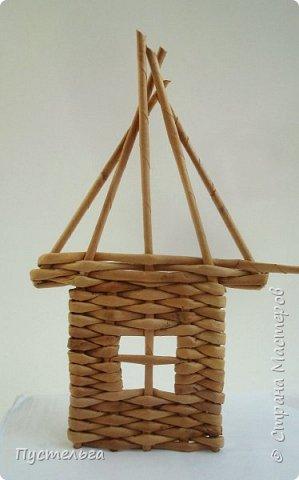 Мастер-класс Поделка изделие Плетение Домик и мельница Трубочки бумажные фото 12