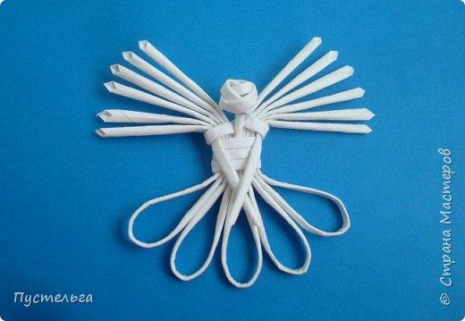 Маленький, лёгкий ангел из восьми трубочек (ёлочное украшение). Сделан для очень хорошего человека - Татьяны ))
