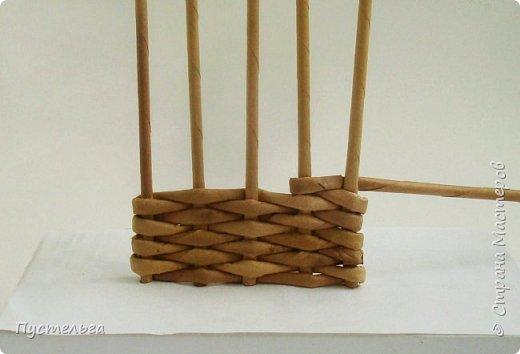 Мастер-класс Поделка изделие Плетение Домик и мельница Трубочки бумажные фото 4