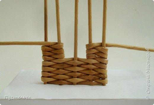 Мастер-класс Поделка изделие Плетение Домик и мельница Трубочки бумажные фото 5