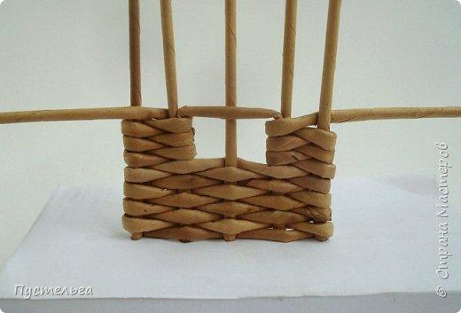 Мастер-класс Поделка изделие Плетение Домик и мельница Трубочки бумажные фото 7