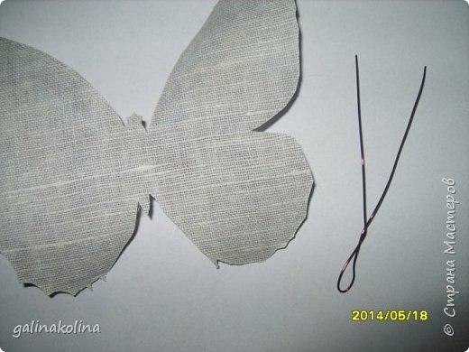 Мастер-класс Поделка изделие Декупаж Моделирование конструирование Бабочек я делаю так  Клей Проволока Салфетки Ткань фото 6