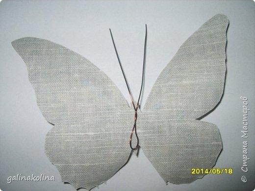 Мастер-класс Поделка изделие Декупаж Моделирование конструирование Бабочек я делаю так  Клей Проволока Салфетки Ткань фото 7